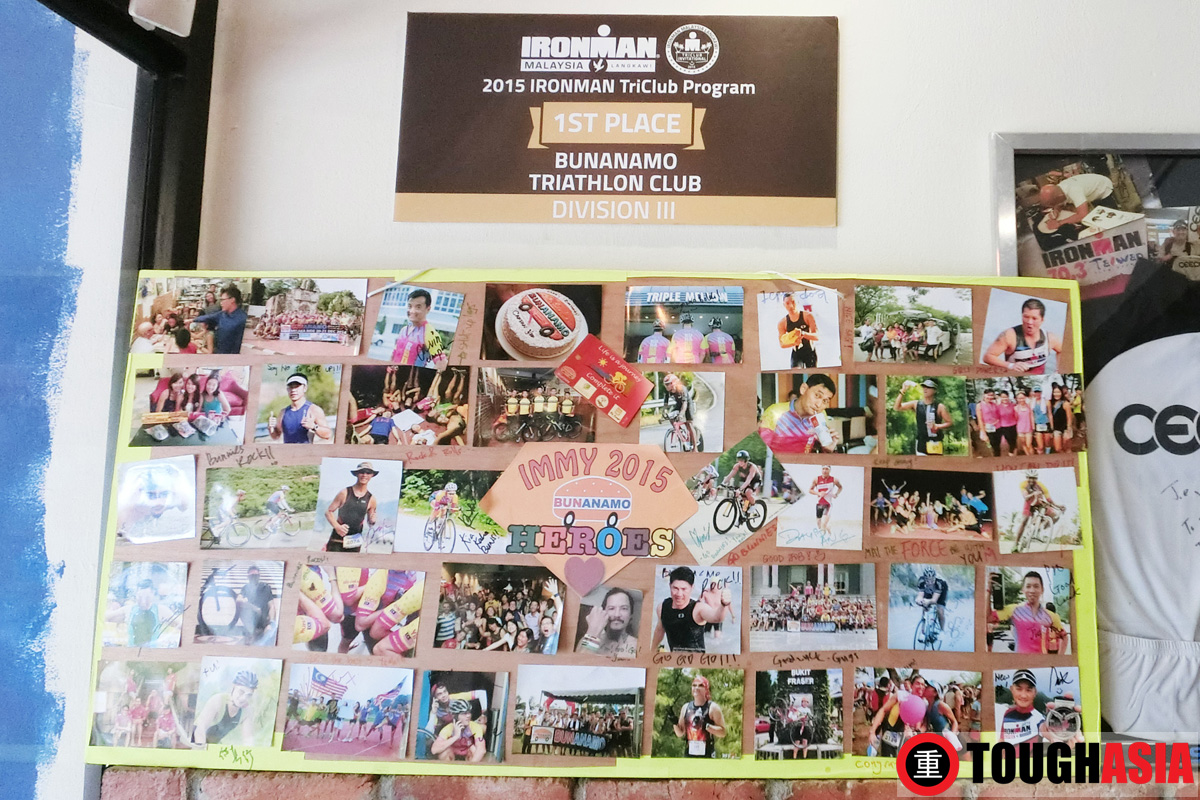 Rupert created the Bunanamo Triathlon club to foster social ties and camaraderie among Triathlon buddies.