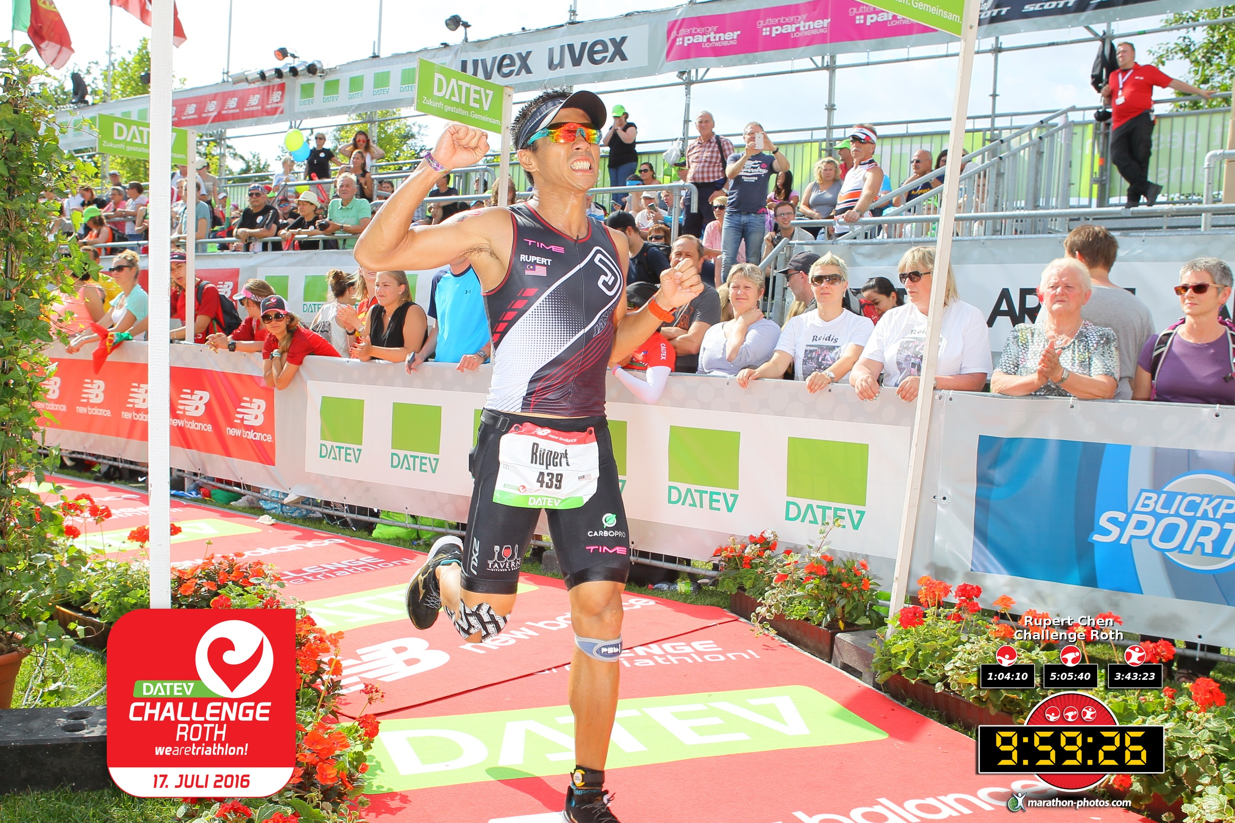 Rupert pushed his physical limits racing with an injured knee at Challenge Roth, Germany. (ChallengeRoth)