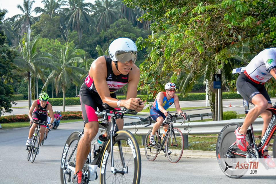 Barry on the bike during Ironman 70.3 Putrajaya (AsiaTri)