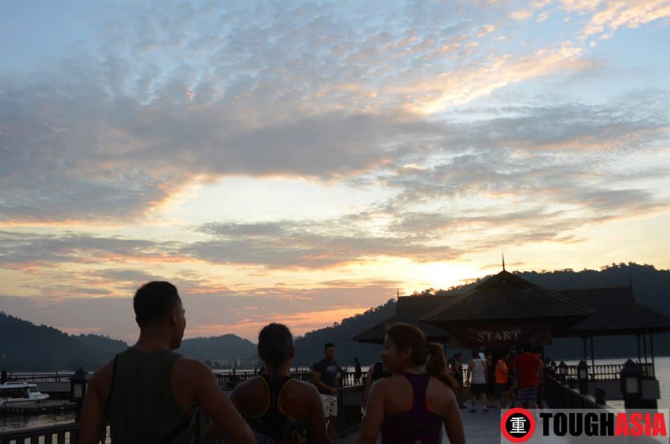 A beautiful sunrise marks the start of Chapman's Challenge on Pangkor Laut