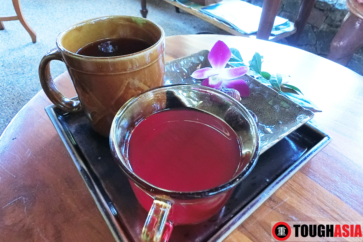 A soothing roselle drink fortified with anti-oxidants to keep you healthy, completes the spa experience.