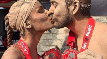 Double victories call for double kisses. (Spartan Race)