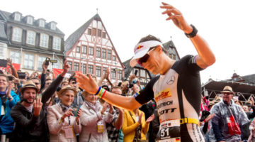 Sebastian Kienle battled for top spot in the Ironman European Championships. (Getty Images)