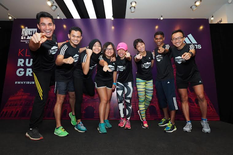 Team adidas featuring Ridwan Mustafa, Zulfadhli Zahir, Fatin Nabila Sam, Tan Mei Kee, Evelyn Ang, Loh Chooi Fern and Azwan Bunjing from various running clubs. (Adidas Malaysia)