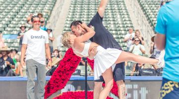 Oliver Drewes and Christina Moore gets married at the 2016 Reebok CrossFit Games. (Preston Smith)