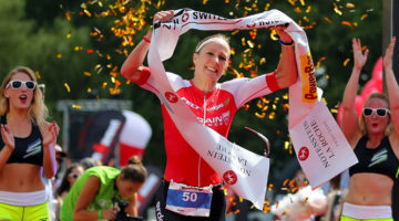 Daniela ryf set a race record en route to winning Ironman Switzerland. (Ironman.com)