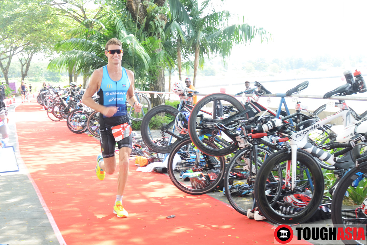 Brad Kahlefeldt en route to winning the Challenge Iskandar Puteri.