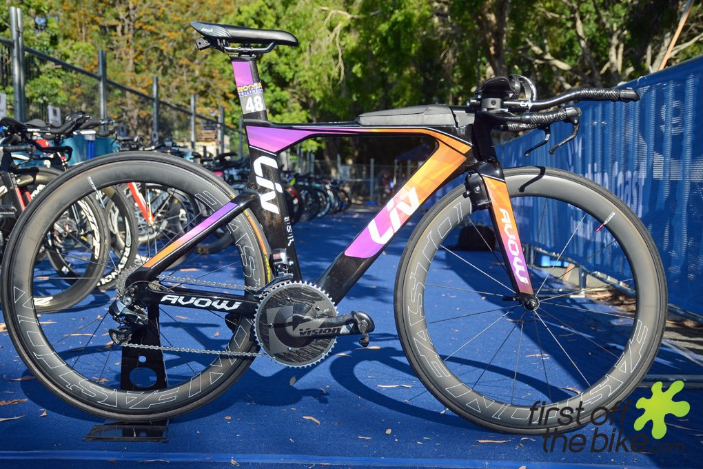 Radka Vodickova's Liv Avow Advanced triathlon-specific bike. (Twitter/firstoffthebike)