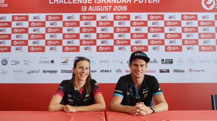 Triathlon's Power Couple, Radka Vodickova and Brad Kahlefeldt at Challenge Iskandar Puteri.