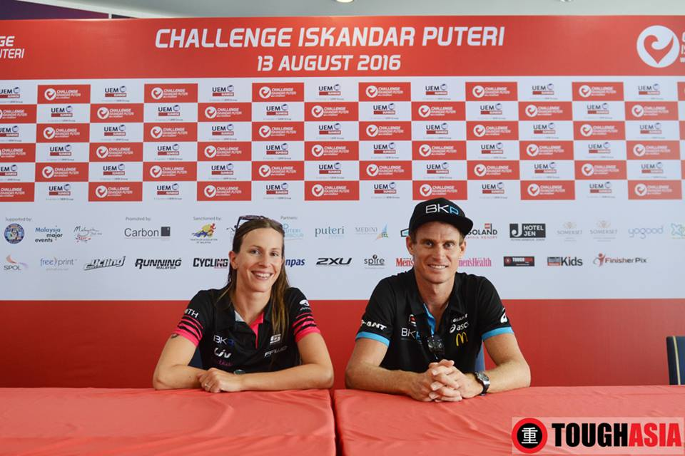 Triathlon's Power Couple, Radka Vodickova and Brad Kahlefeldt at Challenge Iskandar Puteri.