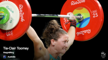 Tia Clair Toomey debuted in Weightlifting for Australi in the Rio Olympics 2016. (Rio Olympics)