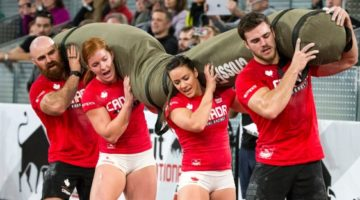 Team Canada represents in the team event at the 2016 CrossFit Games. (CrossFit Games)