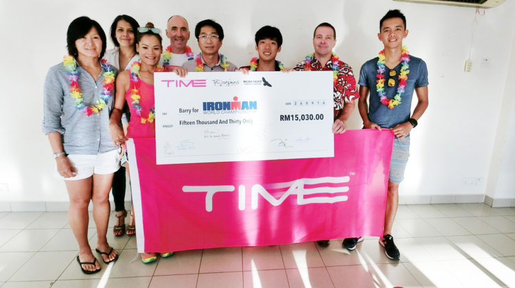 Barry Lee (3rd from right) will be Malaysia's sole representative at the Ironman World Championships in Kona, Hawaii.