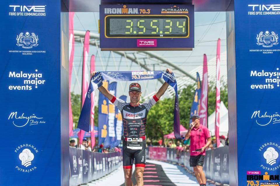 Crowie Alexander wins the  Ironman 70.3 Putrajaya. (CreativeClicks/Ironman Malaysia)