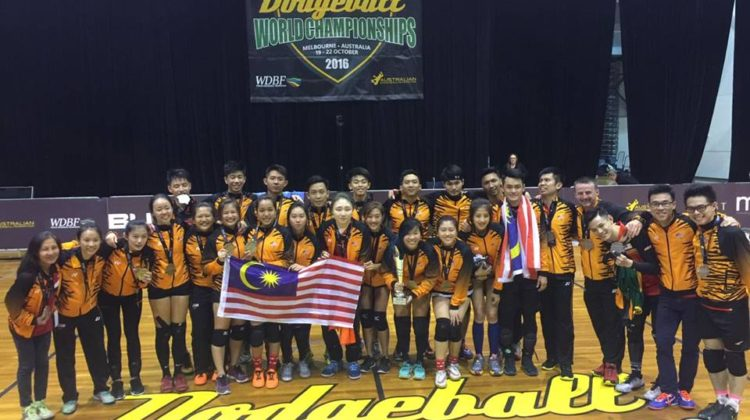 Malaysia wins gold at the Dodgeball World Championships. (Facebook/Dodgeball Malaysia)