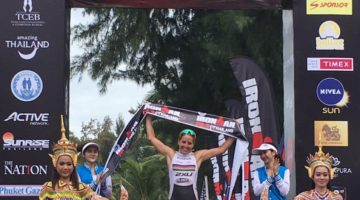 Amelia Watkinson dominated the women's field at Ironman 70.3 Thailand. (Twitter)
