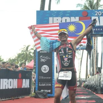 Mohd Amran Ghani was the fastest Malaysian at the Ironman Malaysia 2016.