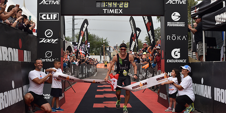 Lionel Sanders wins Ironman Arizona in record style. (Ironman.com)