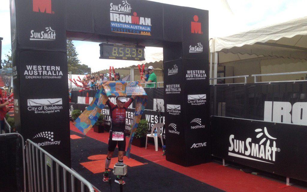 Melissa Hauschildt wins Ironman Western Austrailia 2016. Twitter)