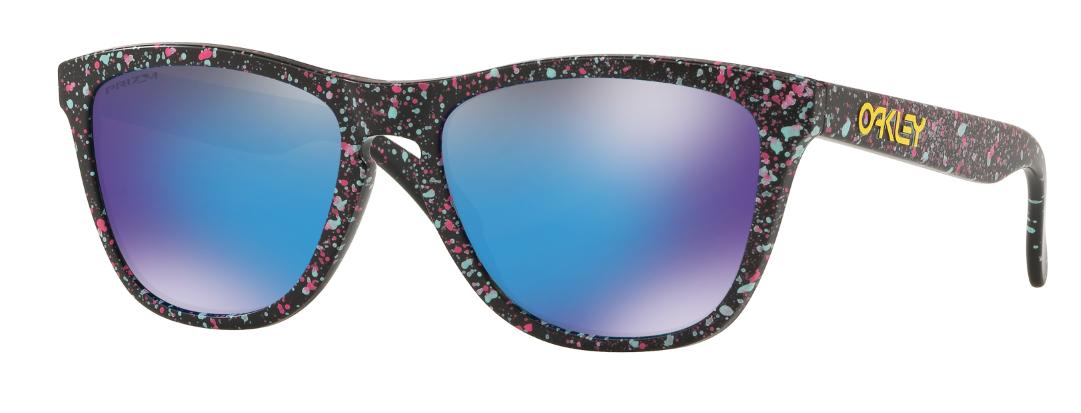 00b7cb0db24f1 Oakley Frogskins Matte Black Splatter With Prizm Sapphire. Reintroducing  Oakley s latest eyewear collection – the Splatterfade ...